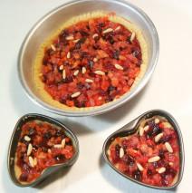Crostata di barbabietole, carote e mele