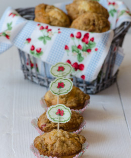 Muffin con fragole