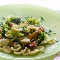 Orecchiette con broccoletti  e cozze
