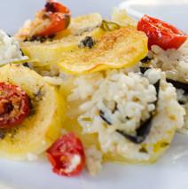 Tiella Barese ( riso, patate e cozze )