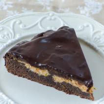 Torta al cioccolato con zucca e ganache di cioccolato