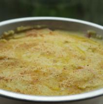 Torta di patate con scalogni e gorgonzola